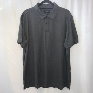 Nordstrom Cotton Short Sleeve Polo Gray NWOT